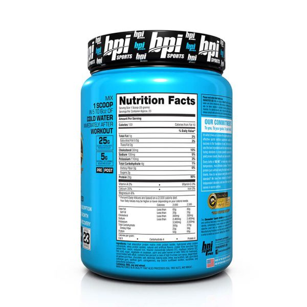 BPI Sports ISO HD Protein Cookies And Cream, 23 Servings